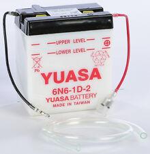 YUASA BATTERY 6N6-1D-2 YUAM2662B Fits: Kawasaki KL250,KE125,KE175,KM100,KE250,KS