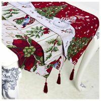 Christmas Table Runners Tablecloth Snowflake Dining Room Table Flag Home Decor
