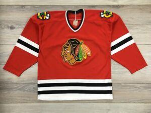 Chicago Blackhawks NHL Ice Hockey CCM Maska Vintage Jersey Shirt size L