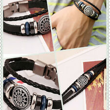 Studded Leather Bracelet Hot Sale Punk Unisex Women Men Wristband Metal