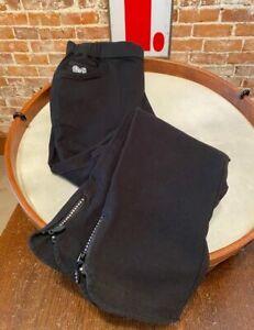 Quacker Factory Black Short DreamJeannes Ankle Pants Jeans Jeweled Zipper New