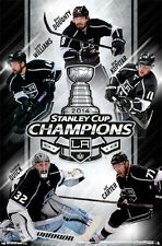 L.A. Kings 2014 STANLEY CUP CHAMPS 5-Player Commemorative Poster KOPITAR QUICK +