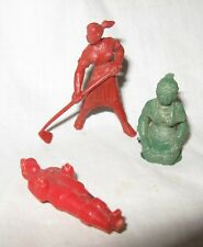 3 CRACKER JACK  PLASTIC  PRIZES TOYS MEN FIGURES