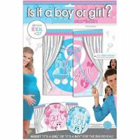 GENDER REVEAL POSTER CURTIAN Baby Shower Party Decorations Girl Boy Sex Backdrop