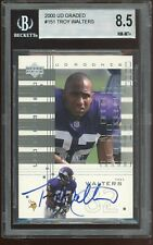 2000 UD Graded #151 Troy Walters RC Auto Autograph BGS 8.5 NM-MT+~ Vikings /500
