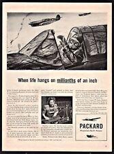 1943 WWII CURTISS P-40 Warhawk  Pilot Allies Attack Rommel Packard AD