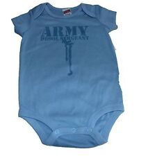 Army Drool Sergeant Baby Blue Boy or Soft Pink Girl Soffe Body suit New