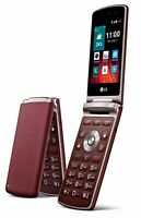 "LG Wine Smart H410 Unlocked Flip Cell Phone Quad Core 3.2"" LTE A+"