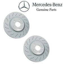Mercedes R171 W203 C209 Pair Set of 2 Front Brake Disc Rotors Drilled Genuine