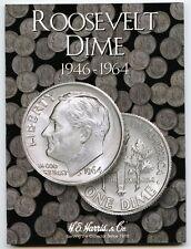 Coin Folder - Roosevelt Dime 1946 - 1964 Set - Harris Album 2684