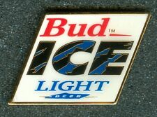 Vintage Budweiser Bud Ice Light Can of Beer Logo Collectors Pin New