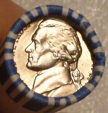 1987P Jefferson Nickel Uncirculated Obw Sealed Roll Original Bank Wrap
