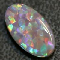 4.29  cts Australian Solid Semi Black Opal Lightning Ridge loose Cut stone Caboc