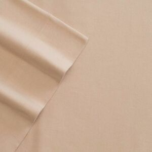 Tan - Cuddl Duds Solid Flannel Sheets - Twin