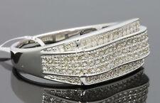 .49 CARAT GENUINE DIAMONDS MENS WHITE GOLD FINISH ENGAGEMENT PINKY RING BAND