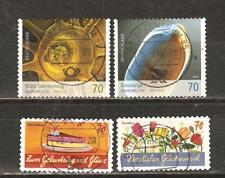 BRD 3205, 3206 micro mundos, 3243, 3244 grußmarken SK con sello