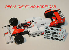 decal Mclaren MP4/2 1984 Lauda Prost 1/43 minichamps