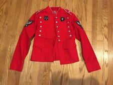 RAW BLUE Denim Guruz Michael Jackson Red Denim Womens Blazer Jacket Size L #