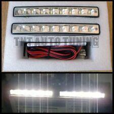 COPPIA LUCI DIURNE KIT DRL - 2 x 4W 8 LED UNIVERSALE AUTO FARI XENON BIANCO E4