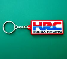 Honda HRC Red Keychain Key ring Rubber Motorcycle bike Racing car Free Shipping