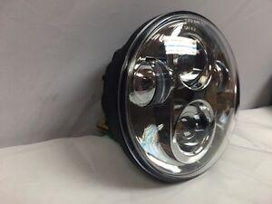 """Chrome - 5 3/4"""" Daymaker LED Light Bulb Headlight Harley Dyna"""