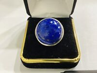 Natural  15ct Lapis Lazuli   Sterling Silver Handcrafted Ring,size 8.5