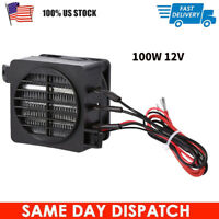 100W PTC Car Fan Air Heater Constant Temperature Heating Element Heaters