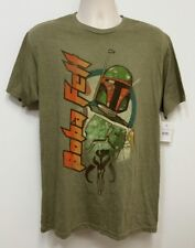 NEW Boba Fett Star Wars Olive Green T-Shirt - Large