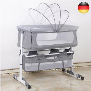 Babywiege Babybett Stubenwagen Beistellbett klappbar höhenverstellbar mit-Rollen