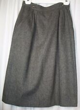 Ann Stevens Wool Blend Size 10 Gray Lined Below Knee Straight Women Winter Skirt