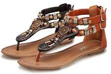 Zip Cuban Solid Sandals & Flip Flops for Women