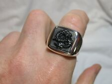 John Hardy Men's Sterling Silver Naga Legends Dragon Carved Onyx Signet Ring 10