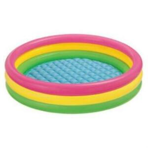 Fluorescent three-ring inflatable pool ball pool