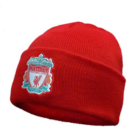 Liverpool FC Official Football Gift Knitted Bronx Beanie Hat Crest Red
