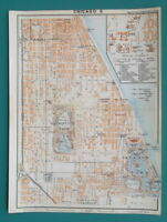 "CHICAGO & University of Illinois Plan - 1909 MAP Baedeker 6 x 8"" (15 x 20 cm)"