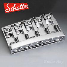 NEW Schaller 3D-5 5 String Bass Bridge with Roller Saddles - CHROME