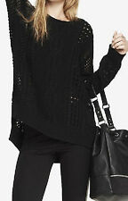 EXPRESS OPEN STITCH TUNIC SWEATER Black  S  SOLDOUT! VERY RARE SEXY DONT miss