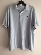 Lacoste 1/4 Button Polo Shirt Pale Blue Size 7
