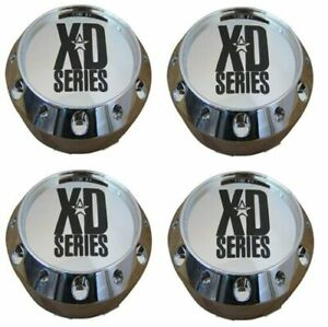KMCXD 464K106 Set of 4 Chrome Snap In Center Caps for XD795/XD786/XD779 Wheels