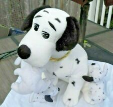 Real Cute Large 1001 Dalmatians Black & White Mother Dog w 3 Pups Stuffy