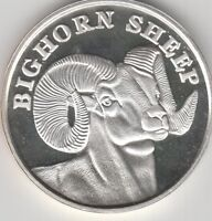 Bighorn Sheep Ram coin one troy ounce silver
