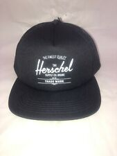 Herschel Supply Co Hat Cap Black BRAND NEW with TAGS Snapback