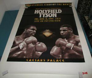 1991 Boxing Poster 26x39.5 HOLYFIELD TYSON Caesars Palace BUDWEISER # 2752