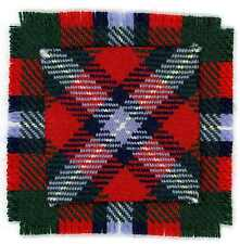 WOOL STUART OF FINGASK TARTAN for CANADIAN ARMY 48th HIGHLANDERS BAND CAP BADGE
