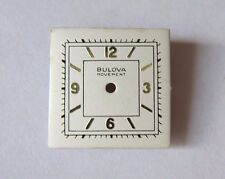 VINTAGE BULOVA SQUARE WRIST WATCH DIAL FACE  20.7 mm NOS