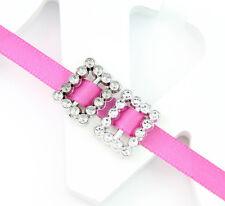 100pcs Square Rhinestone Buckle Invitation Ribbon Slider For Wedding Supply