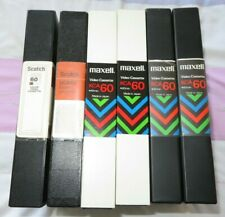 6 Maxell & Scotch/3M Umatic KCA60 video tapes (possibly unused)