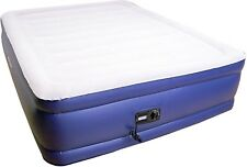 AIRTEK FULL SIZE AIR BED AIRBED RAISED FLOCKED TOP MATTRESS WITH BUILT-IN PUMP