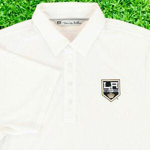 "Travis Mathew Men Medium 42"" LA Kings 50 Year Anniversary Polo Shirt Hockey"
