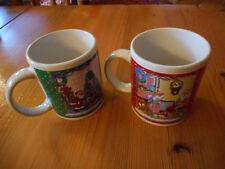 Zwei große Kaffeebecher  Teetassen  Weihnachtsmotiv  Porzellan